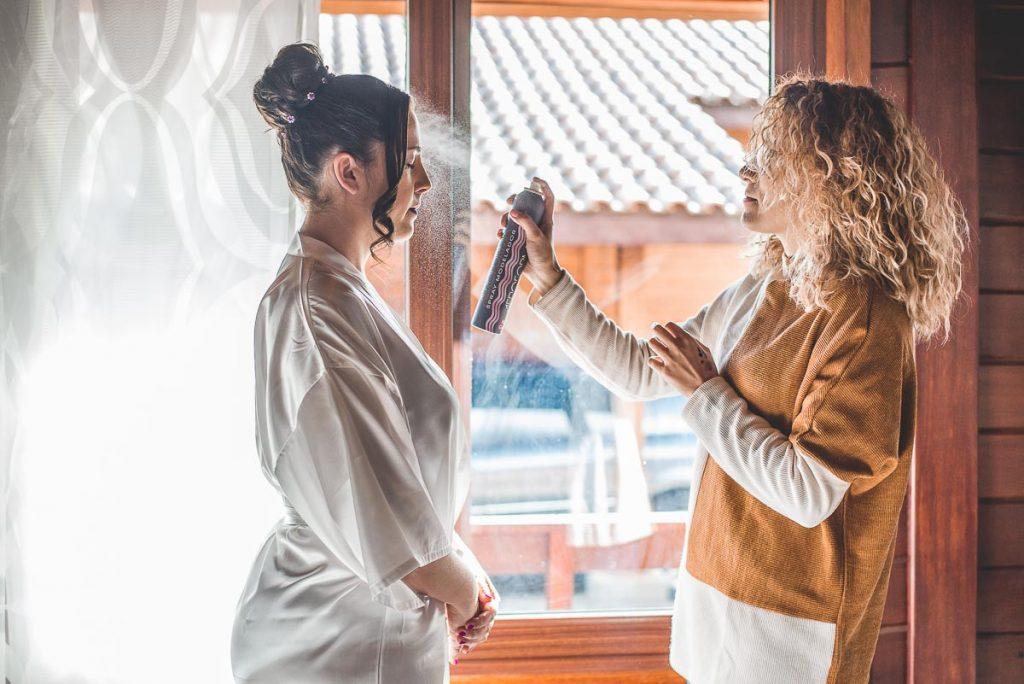 fotos de boda peluqueria novia